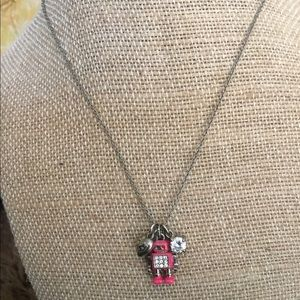 Juicy Couture pink robot necklace